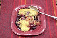 Michelle's Tasty Creations and Crafty Ideas: Crock Pot Peach Blackberry Dump Cake
