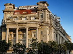 Art Deco Fullerton Hotel in Singapore built in 1928 by Keys & Dowdeswell, a Shanghai firm of architects. The architectural firm also designed the Capitol Theatre and the Singapore General Hospital.
