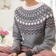 Fair Isle Knitting Patterns, Knitting Stitches, Knitting Designs, Hand Knitting, Yarn Projects, Knitting Projects, Icelandic Sweaters, Knit Basket, Knitwear