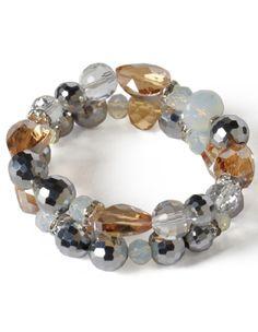 Glass Bead Stretch Bracelet