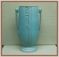 Roseville Moderne Pottery Vase Tall