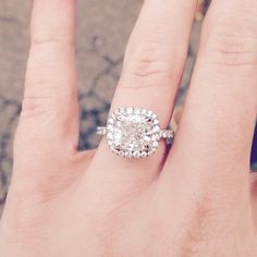 The dream ring that became reality. His birthstones are hidden underneath the main stone