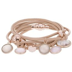 Marjana Von Berlepsch Jewellery - Beven Bracelet Nude - in beige -... (380 NZD) ❤ liked on Polyvore featuring jewelry, bracelets, accessories, beige, nude jewelry, charm bangles, swarovski crystal jewelry, swarovski crystal charms and swarovski crystal bangle