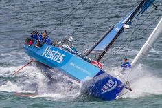 The latest entry in the Volvo Ocean Race, Team Vestas Wind left Southampton on Sunday, heading for the race start port in Alicante, Spain. Volvo Ocean Race, The World Race, Sail World, Wind World, Sail Racing, Sailboat Racing, Dinghy, Set Sail, Tall Ships
