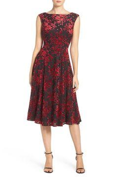 Betsey Johnson Burnout Velvet Midi Dress available at #Nordstrom