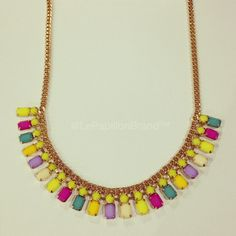 Sunny Side Necklace - PhP 980 Color: Yellow In Stock: 2 pcs.  To place an order, please text/iMessage/Viber/WhatsApp/WeChat 0999-8894770 or fill out an order form at http://facebook.com/LePapillonAccessories.