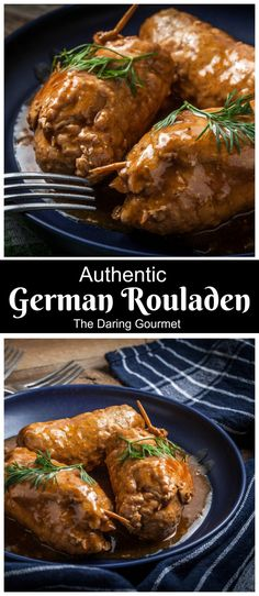 Authentic German Rouladen Recipe - The Best Spanish Recipes German Rouladen, Beef Rouladen, Meat Recipes, Dinner Recipes, Cooking Recipes, Polish Recipes, German Food Recipes, German Recipes Dinner, Food Art