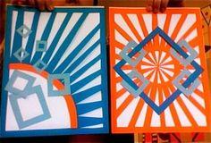 Composicions geomètriques. Complementaris en cartolina.