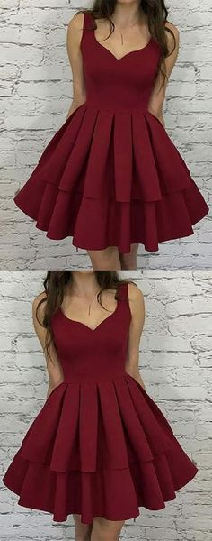Excellent Homecoming Dresses Simple Homecoming Dresses Short Burgundy Homecoming Dresses V Neck Homecoming Dresses Simple Homecoming Dresses, Burgundy Homecoming Dresses, Simple Prom Dress, V Neck Prom Dresses, Dresses Short, Dance Dresses, Simple Dresses, Dress Prom, Party Dresses