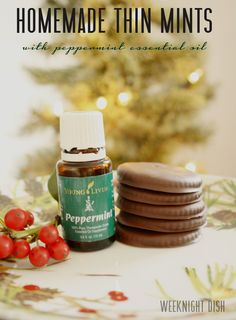 Homemade Thin Mints with Peppermint Essential Oil