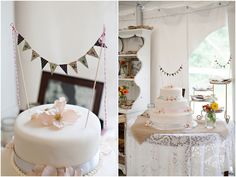 Bunting Cake at The Curtis Farm.