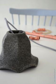 Una pantalla de lámpara de lana / Lampshade in wool « La Factoría Plástica