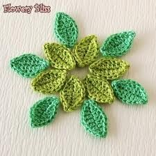 crochet leaves - Google Search