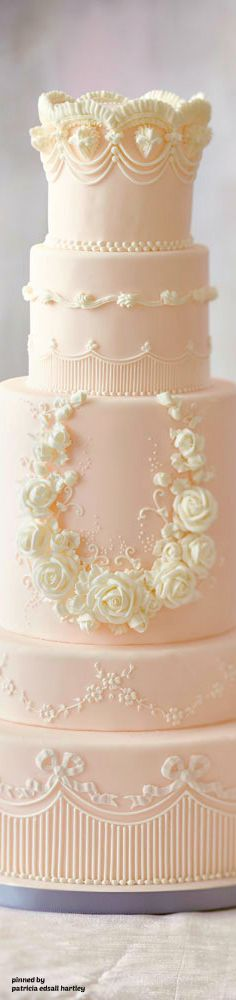 Beautiful cake for a wedding.                                                                                                                                                                                 More