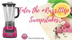 """Enter to win a KitchenAid Artisan® 5-Speed Diamond Blender in the color, """"Raspberry Ice!"""" #RazzItUp"""