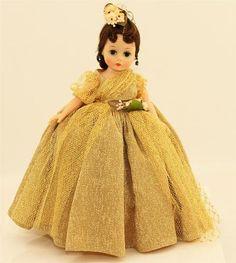 "Vintage 1950 60s Madame Alexander 10"" Articulated Cissette Doll RARE Long Dress"