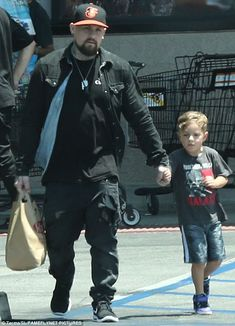 Gathering provisions: On Saturday, Benji Madden was spotted taking his nephew Sparrow Madden to Ralphs in Studio City