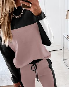 Cute Lazy Outfits, Sporty Outfits, Classy Outfits, Outfits For Teens, Trend Fashion, Winter Fashion Outfits, Athleisure Outfits, Classy Casual, Drawstring Waist