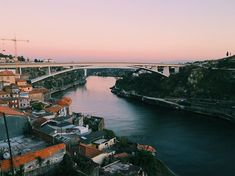 Sunset above Douro in Porto can be very magical. It's certainly one of the most romantic places on Earth! Most Romantic Places, Portugal Travel, Honeymoon Destinations, Sky, River, Sunset, Night, Amazing, Pictures