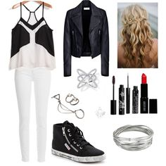 Day out w/ friends #7 by leilani14 on Polyvore featuring polyvore fashion style Balenciaga Paige Denim Superga Lee Renee Whistles Forever 21 Rouge Bunny Rouge Lord & Berry