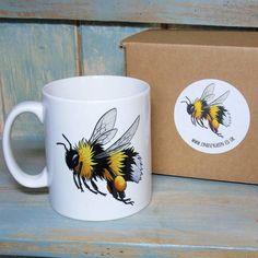 Lyndsey Green Illustration Bumble Bee Illustration Mug #ad #bee #bees #mug