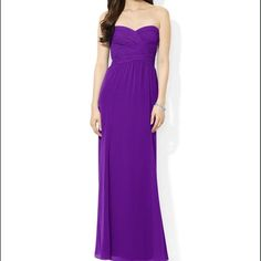 Long evening gown Beautiful purple sheered evening dress. Worn once. Not maternity, but I wore when I was pregnant. So would work either way. Ralph Lauren Dresses