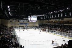 This is the home ice of the Bemidji State University Hockey Team (and the hockey cheerleaders!), The Sanford Center.