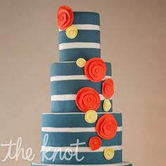 Such a fun cake!   Mark Davidson Photography   Cake by Wild Orchid Bakery