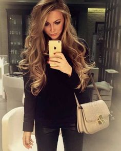 Sleek straight hairstyles leave their places to curled and wavy hairstyles and. - Sleek straight hairstyles leave their places to curled and wavy hairstyles and you may notice tha - Haircuts For Long Hair, Straight Hairstyles, Wavy Hairstyles, Female Hairstyles, Evening Hairstyles, Wedding Hairstyles, Curly Hairstyle, Pretty Hairstyles, Latest Hairstyles