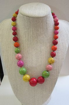 Beaded Turqoise Necklace by diva54jewelry on Etsy, $62.00