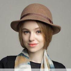 6f35033916c Fashion plain fedora hat for women with bow wool blend winter felt hats
