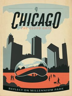 Chicago: Millennium Park - After winning international acclaim for creating the Spirit of Nashville Collection, designer and illustrator Joel Anderson set out to create a series of classic travel posters that celebrates the history and charm of America's greatest cities. He directs a team of talented Nashville-based artists to keep the collection growing.<br /> <br />