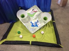 Tablanket game for the kids at the dfw family expo trade show.