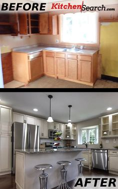 Another STUNNING, Before & After by KitchenSearch!  Stop just dreaming about your new and beautiful kitchen, contact us today!  It's easier than you think!  info@kitchensearch.com or 215-253-5800