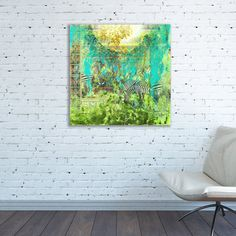 Africa Canvas print African Square Abstract painting Africa square colorful African nature Animals Africa bright Africa wall art work Africa