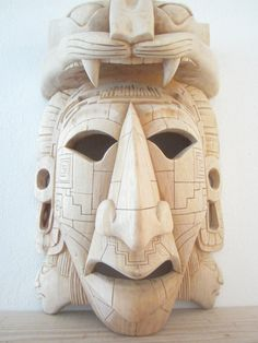 Giant Unfinished Jaguar Warrior Mask In Cedar by FantasticAztec, $329.00 - I like this one that's not polished or painted. I think it would look great as it aged naturally...