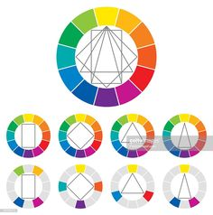 Color Wheel Color Combinations Stock Vector - Illustration of physics, itten: 74868603 Colour Pallete, Color Schemes, Principles Of Art, Color Harmony, Color Psychology, Color Studies, Free Vector Art, Color Theory, Animal Design