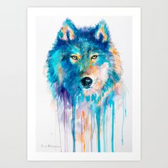Wolf+Art+Print+by+Slaveika+Aladjova+-+$19.76