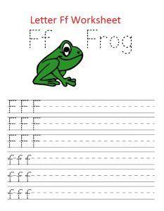 letter f traceline worksheet
