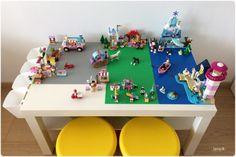 Lego stolík / LEGO table - free tutorial, IKEA hacks Lego Table, Ikea Hacks, Kids Room, Nursery, Free, Ideas, Room Kids, Child Room, Baby Room