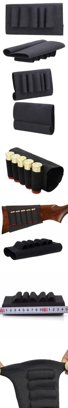 Nylon Shotgun Rifle 5 Shells Butt Stock Bullet Cartridge Holder Holster for Outdoor Airsoft Tactical Hunting Gun Accessories