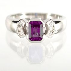 Diamond and amethyst wedding rings | The Wedding Specialists