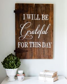 """Grateful"" Wood Sign {customizable}"