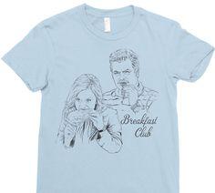 Breakfast Club - Women's Parks & Rec Shirt - Breakfast Shirt - Ron Swanson Shirt - Leslie Knope Shirt - Funny T-Shirt - Pop Culture T-Shirt