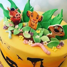 Hakuna Matata everyone! Fantastic cake by - Edible Image Software Lion Birthday Party, Lion King Birthday, 1st Birthday Party Themes, 2nd Birthday, Hakuna Matata, Minnie Mouse Decorations, Lion King Party, Donald And Daisy Duck, Lion King Cakes