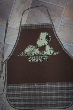 Snoopy Apron or Adult Bib by funfoodsaprons on Etsy