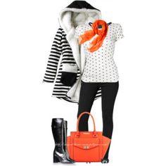 Black, White & Orange