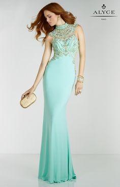 Alyce Paris - 6518 Prom Dress in Seabreeze Gold