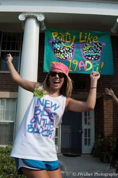 Party like it's New bids on the block bid day theme. Buy recruitment shirts in bold colors and break out the snapbacks! Sorority Party Themes, Recruitment Themes, Sorority Bid Day, Bid Day Themes, Sorority Crafts, Sorority Recruitment, Sorority Life, Sorority Sugar, Sorority Sisters