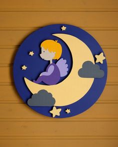 Items similar to Sweet Dreams Circle, Wood Wall Decor Wood Art Baby Room Kids Room Angel on Etsy Kids Wall Decor, Wood Wall Decor, Baby Decor, Wood Crafts, Diy And Crafts, Crafts For Kids, Paper Crafts, Custom Woodworking, Woodworking Projects Plans